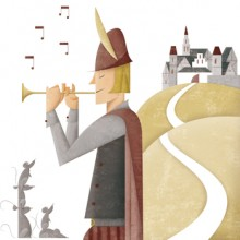 cuentos geométricos flautista hamelin